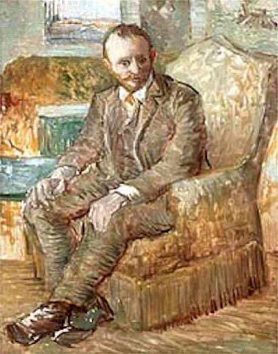 Portrait of the Art Dealer Alexander Reid, Sitting in an Easy Chair. Vincent van Gogh