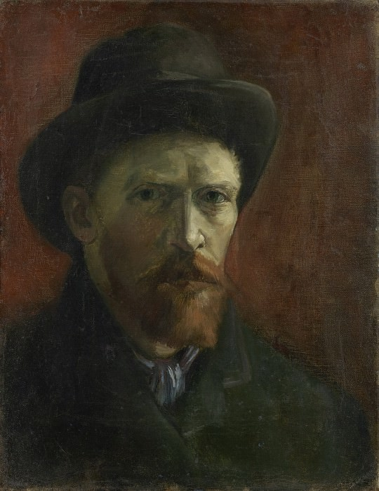 Self-Portrait with Dark Felt Hat. Vincent van Gogh