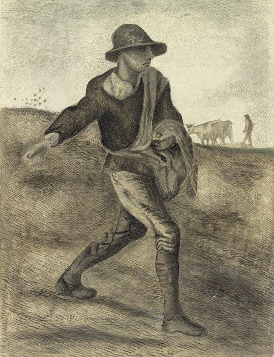 A Sower (after Millet). Vincent van Gogh