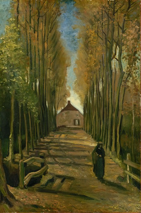 Avenue of Poplars in Autumn. Vincent van Gogh