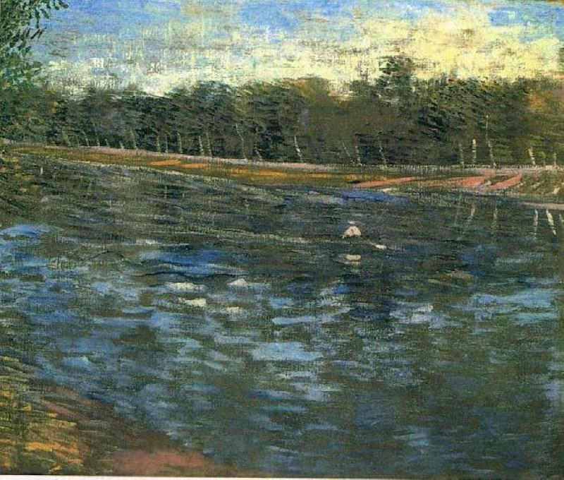 The Seine with a Rowing Boat. Vincent van Gogh