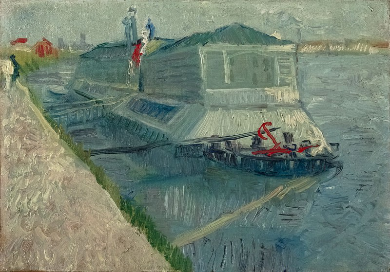 Bathing Float on the Seine at Asnieres. Vincent van Gogh