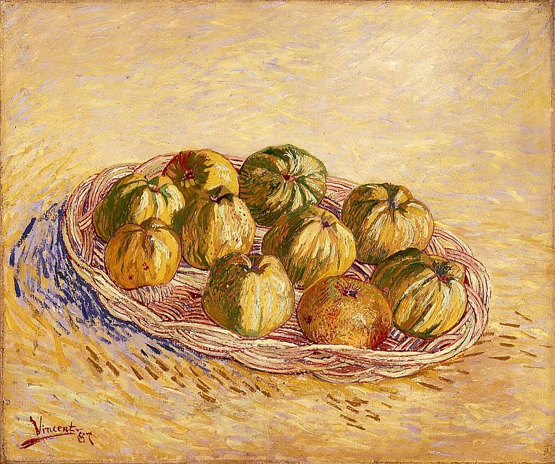 Still Life with Basket of Apples. Vincent van Gogh