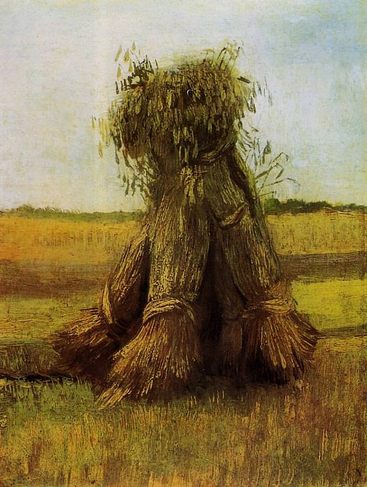 Sheaves of Wheat. Vincent van Gogh