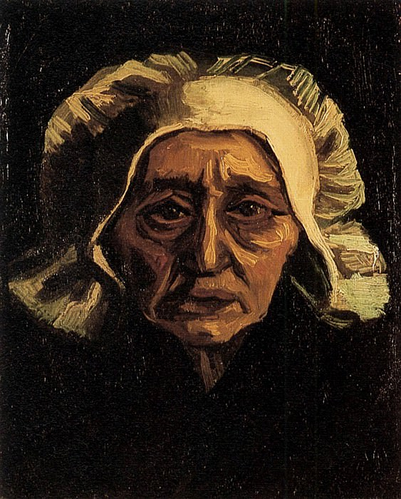 Head of an Old Peasant Woman with White Cap. Vincent van Gogh