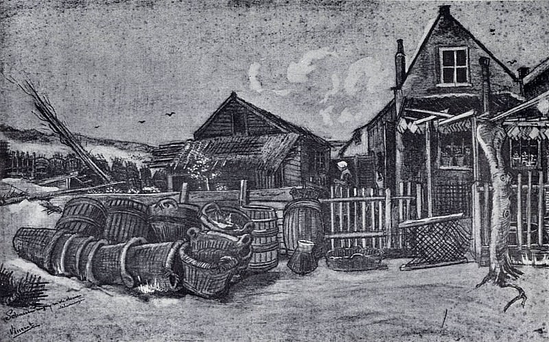 Flounder drying facility in Scheveningen. Vincent van Gogh