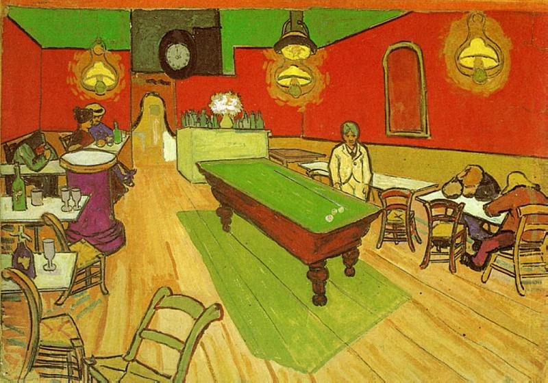 NIght Cafe in Arles. Vincent van Gogh