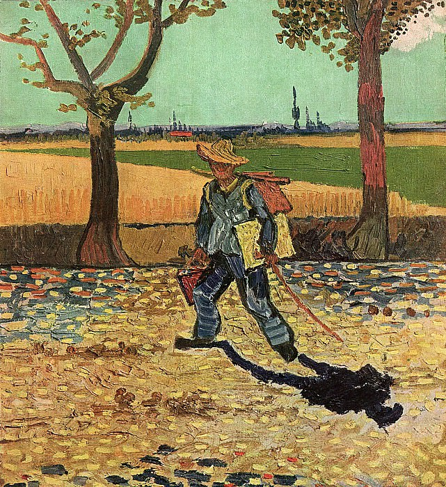 The Painter on His Way to Work. Vincent van Gogh
