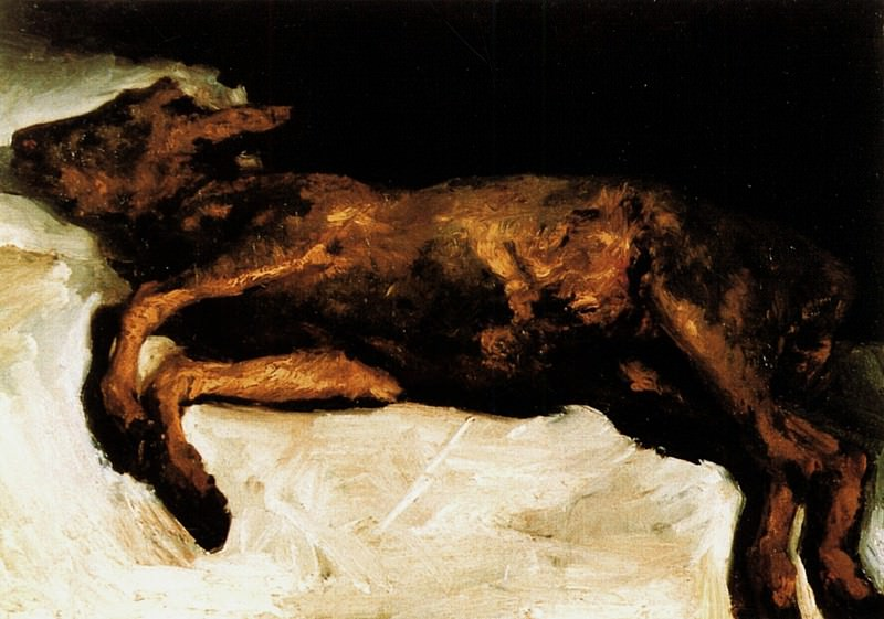 New-Born Calf Lying on Straw. Vincent van Gogh