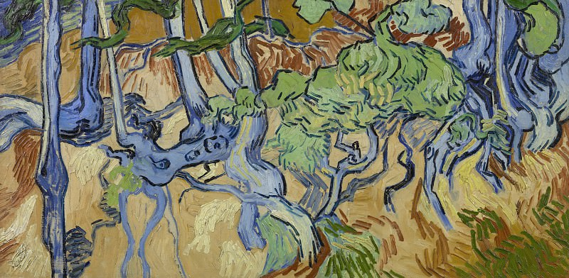 Roots and Tree Trunks. Vincent van Gogh