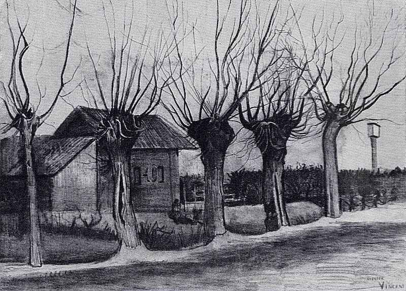 Small House on a Road with Pollard Willows. Vincent van Gogh