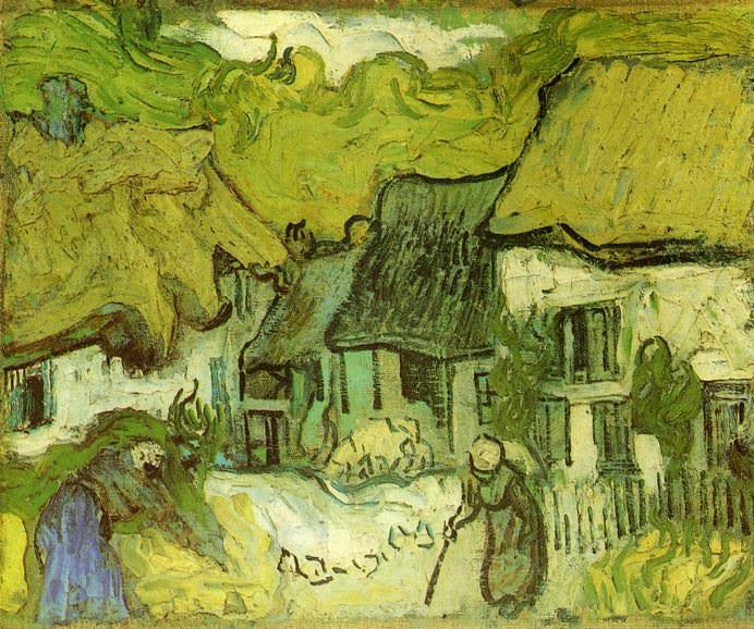 Дома с соломенной крышей. Винсент Ван Гог