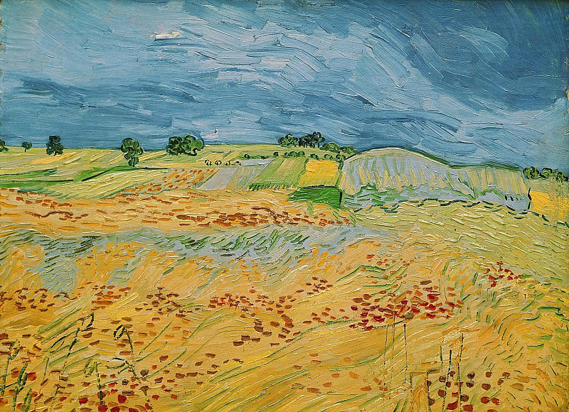 Landscape at Auvers. Vincent van Gogh