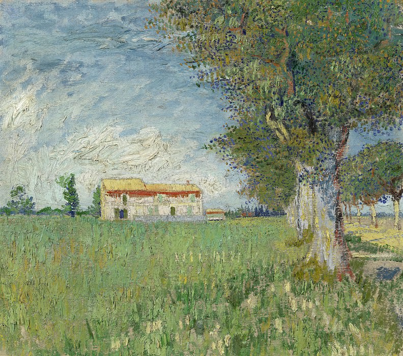 Farmhouse in a Wheat Field. Vincent van Gogh