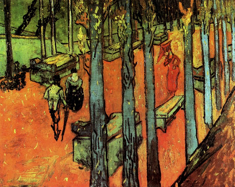 Les Alyscamps - Falling Autumn Leaves. Vincent van Gogh