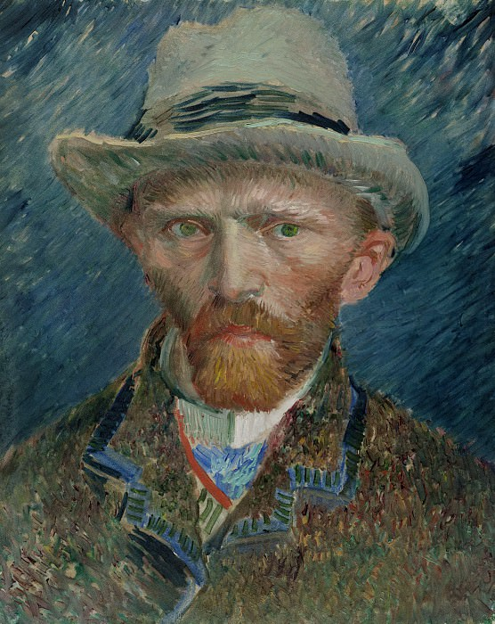 Self-Portrait with Grey Felt Hat. Vincent van Gogh