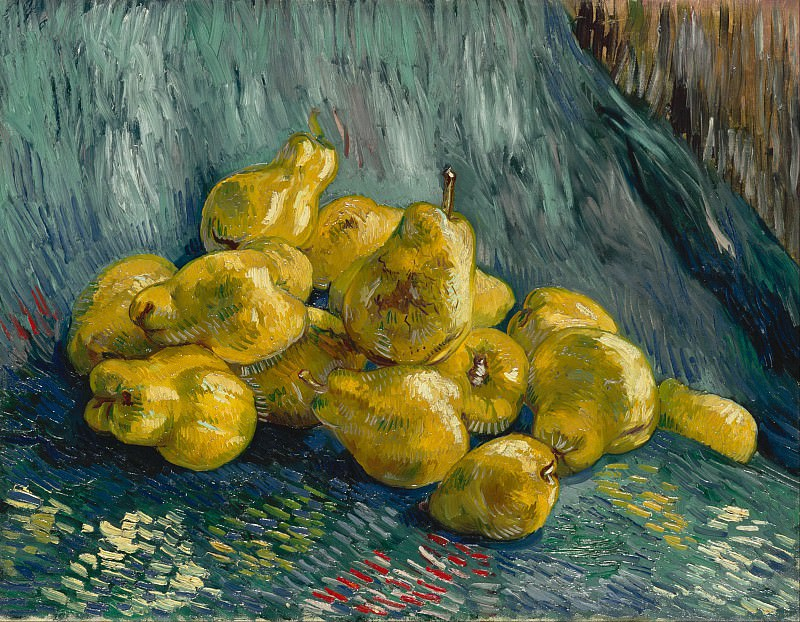 Still Life with Pears. Vincent van Gogh