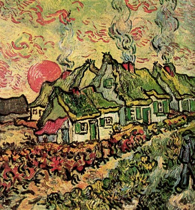 Cottages - Reminiscence of the North. Vincent van Gogh