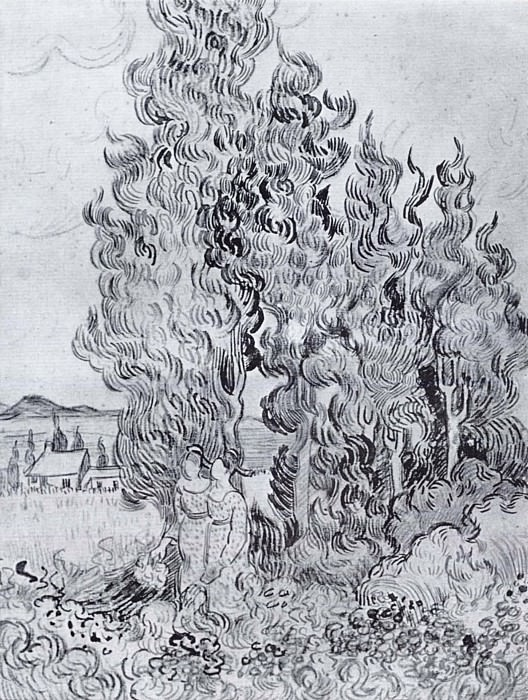 Cypresses. Vincent van Gogh