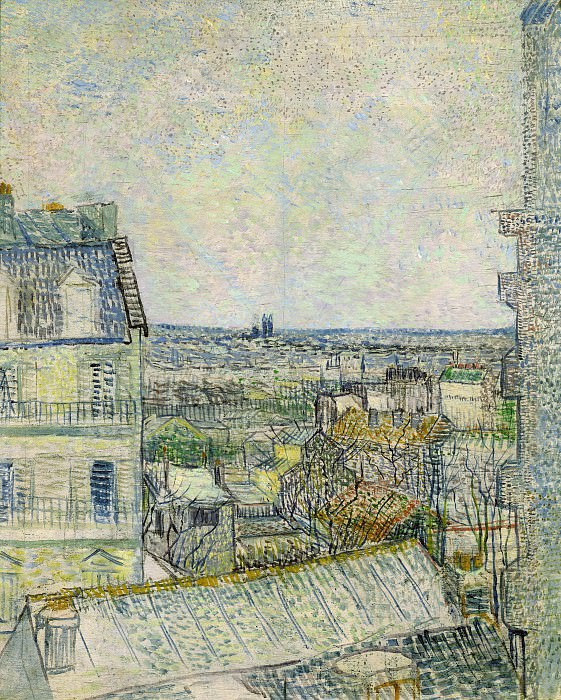 View of Paris from Vincent s Room in the Rue Lepic. Vincent van Gogh