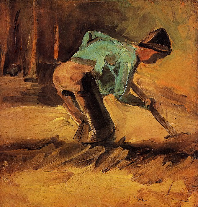 Man Stooping with Spade. Vincent van Gogh