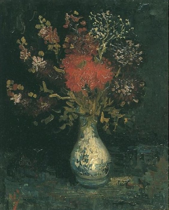 Vase with Flowers. Vincent van Gogh