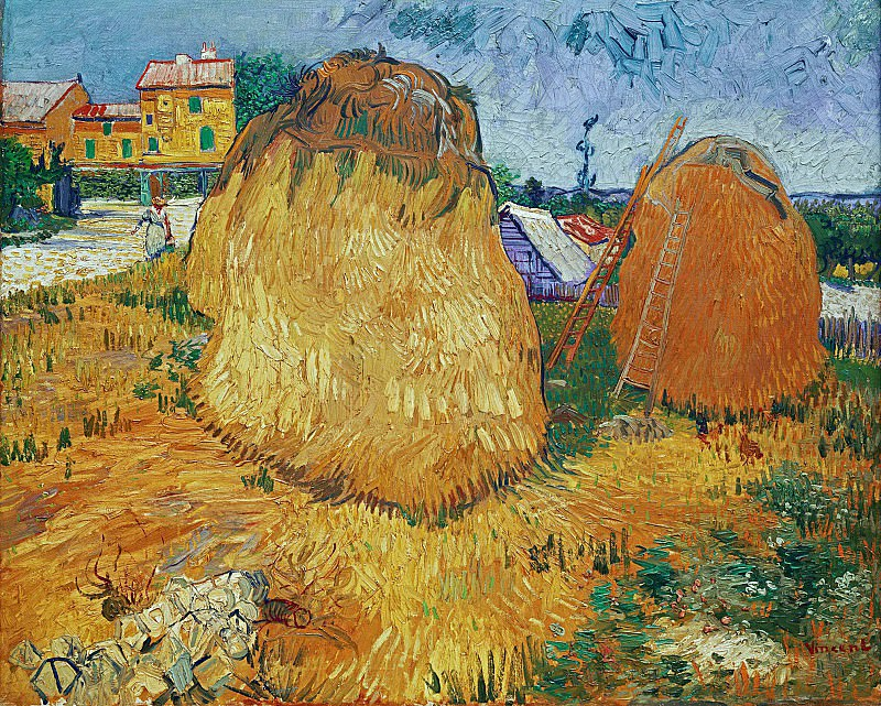 Haystacks in Provence. Vincent van Gogh