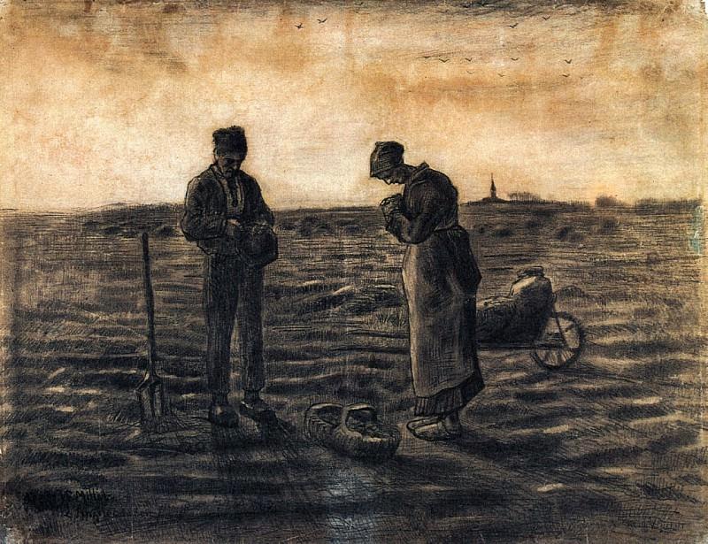 The Evening Prayer (after Millet). Vincent van Gogh