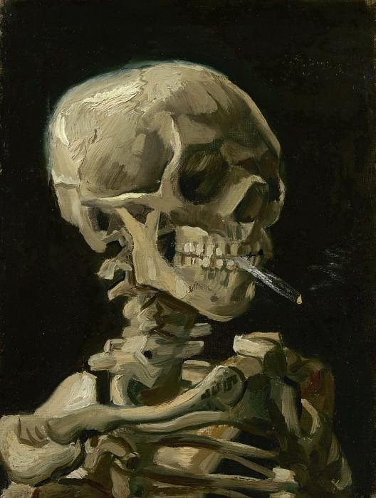 Skull with Burning Cigarette. Vincent van Gogh