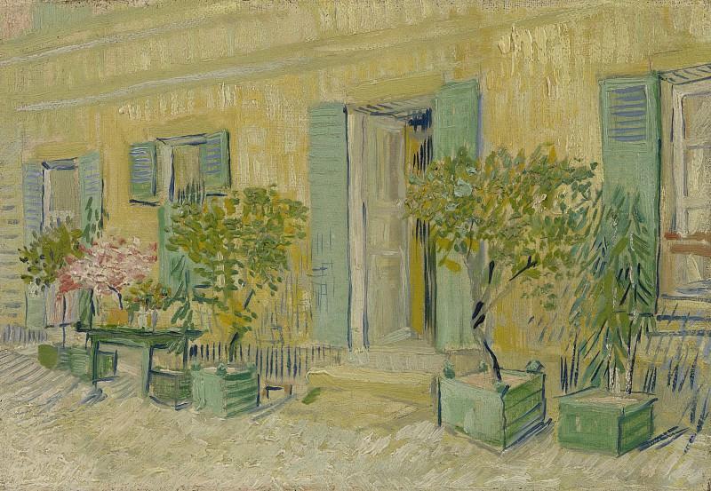 Exterior of a Restaurant at Asnieres. Vincent van Gogh