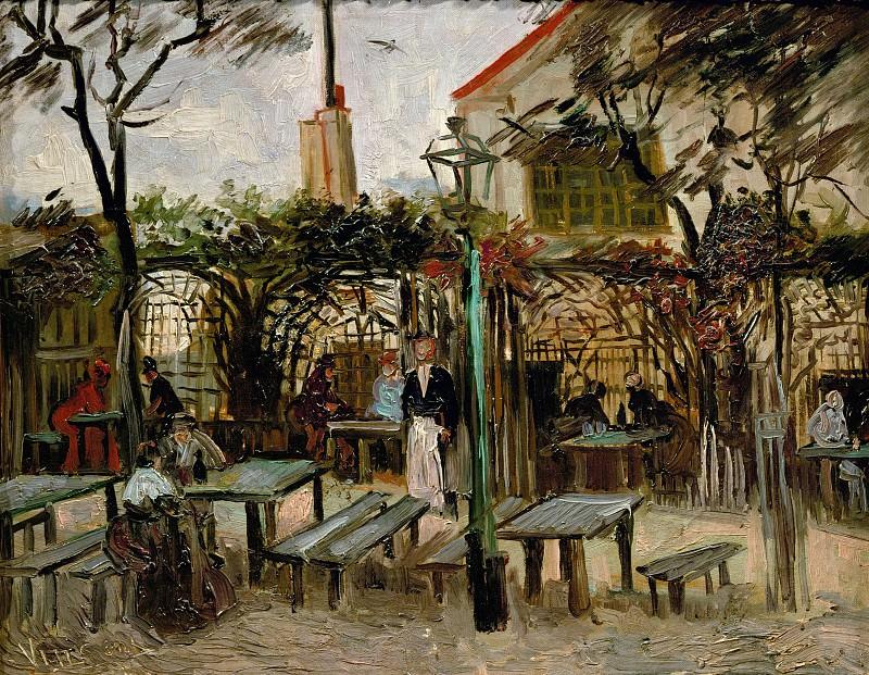 Terrace of a Cafe on Montmartre (La Guinguette). Vincent van Gogh