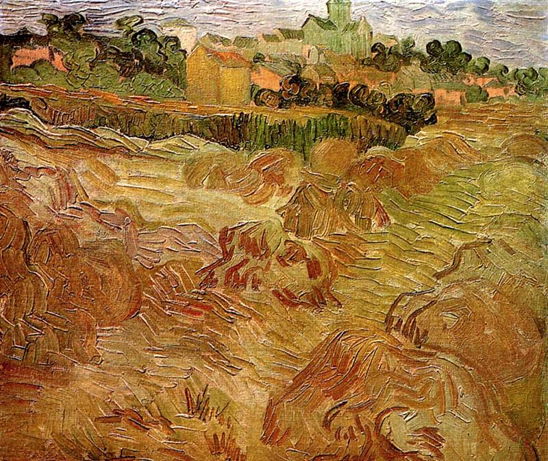 Wheat Fields with Auvers in the Background. Vincent van Gogh