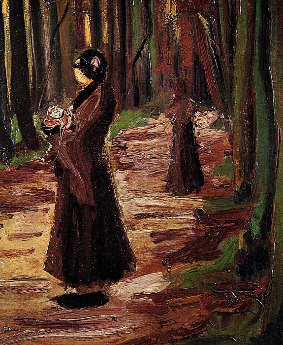 Two Women in the Woods. Vincent van Gogh