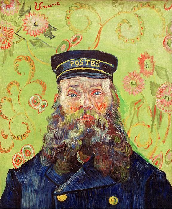 Portrait of the Postman Joseph Roulin. Vincent van Gogh