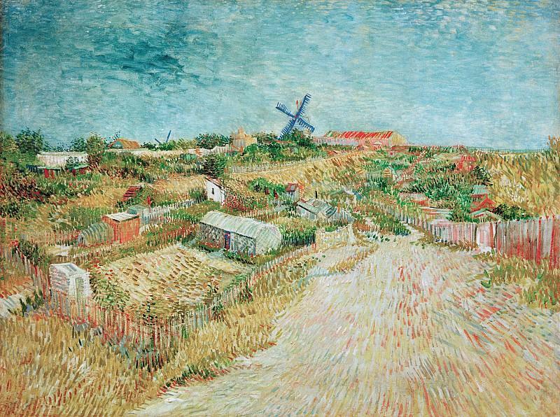 Vegetable Gardens in Montmartre. Vincent van Gogh