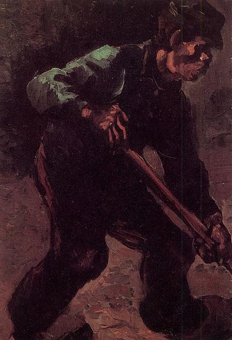 Peasant Digging. Vincent van Gogh