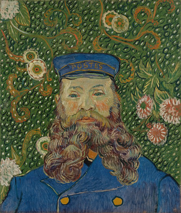 Portrait of the Postman Joseph Roulin. Vincent van Gogh