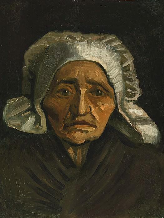 Голова старой крестьянки в белом чепце. Винсент Ван Гог