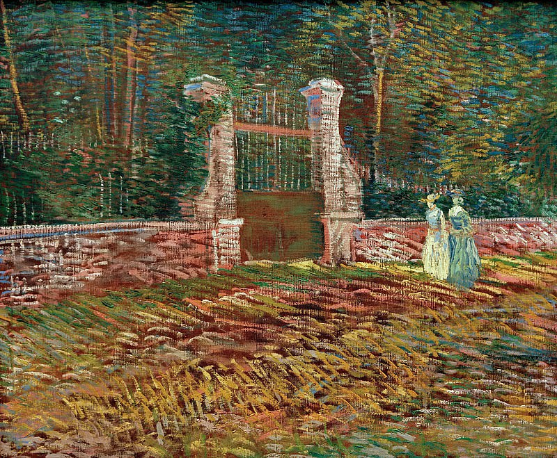 Entrance to the Park at Voyer-dArgenson in Asnieres. Vincent van Gogh