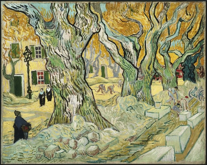 Large Plane Trees (The Road Menders). Vincent van Gogh