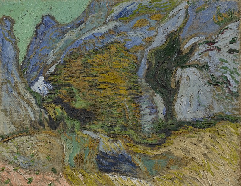 Ravine with a Small Stream. Vincent van Gogh