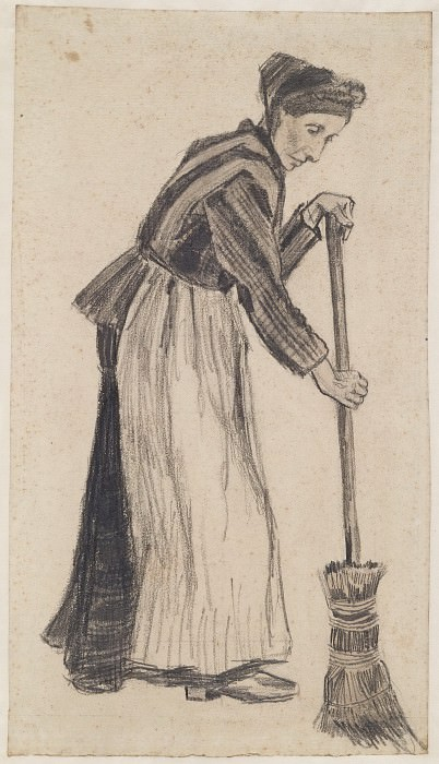 Woman with a Broom. Vincent van Gogh