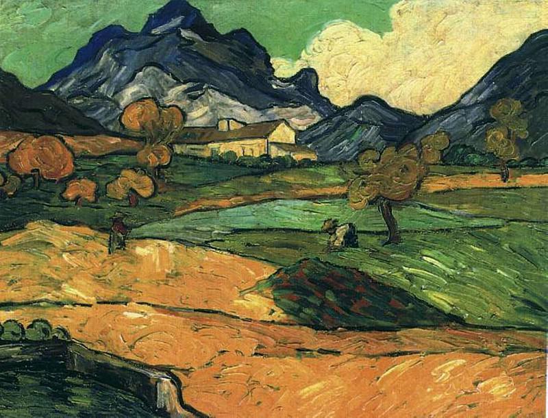 Le Mont Gaussier with the Mas de Saint-Paul. Vincent van Gogh