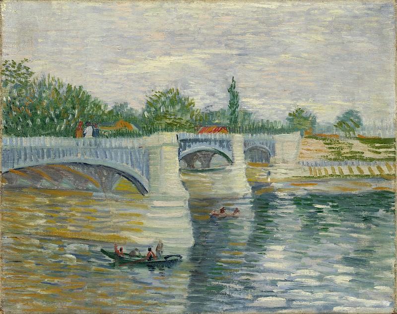Сена с мостом Гранд-Жатт. Винсент Ван Гог