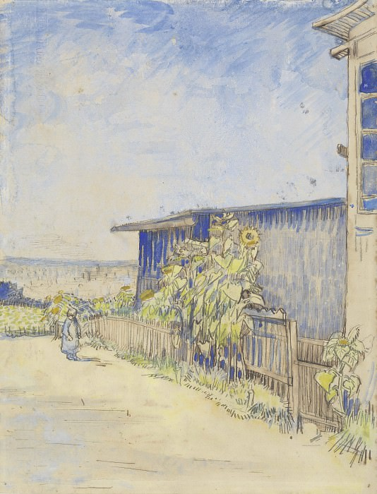 Shed with Sunflowers. Vincent van Gogh