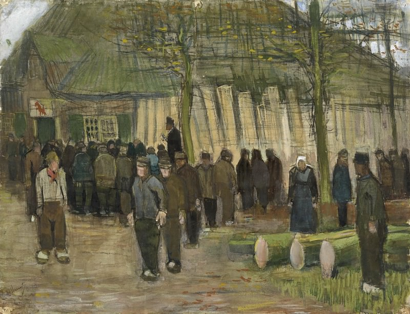Lumber Sale. Vincent van Gogh