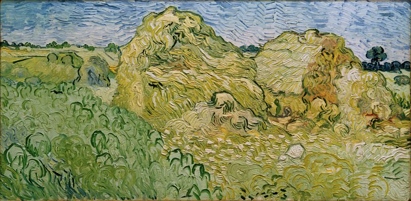 Field with Wheat Stacks. Vincent van Gogh