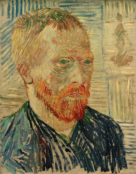Self-Portrait with a Japanese Print. Vincent van Gogh