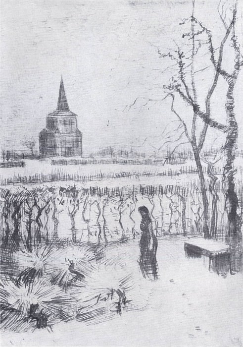 The Old Tower (Melancholie). Vincent van Gogh