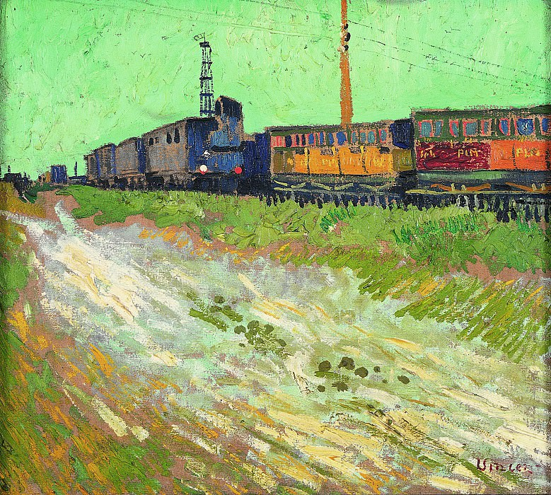 Railway Carriages. Vincent van Gogh